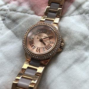 MK Rose Gold And Light Pink Watch